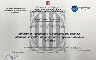Reconeixement del DARP a la Confraria de Vilanova i la Geltrú